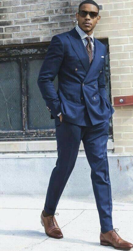 Navy Blue Suits Business Men For Wedding Smoking Jacket Trajes De Hombre Best Man Blazer Costume Homme Slim Fit Terno Masculino