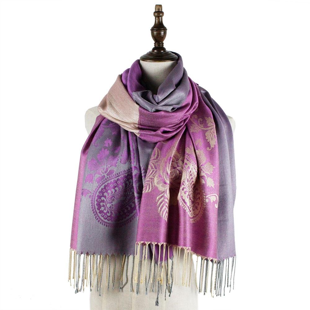 Jzhifiyer Jacquard scarf rayon long fashion fringe paisley ladies new wraps shawls and scarves shawl women brand name