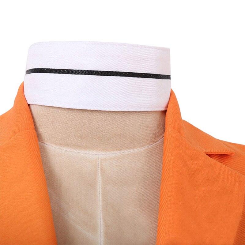 uniforme cosplay trajes laranja bodysuit + luva