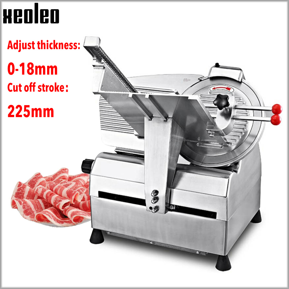XEOLEO Commercial Meat Slicer Frozen Meat Slicing Maker Automatic Skiving Machine Fat Cattle/Mutton Roll Slicer 12inch 110/220V