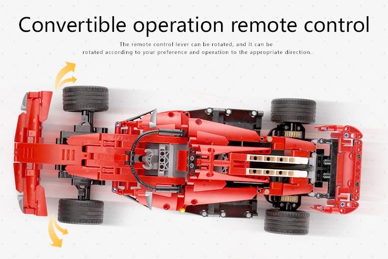 Yeshin MOC Motor Function Cars The Technic Motor Car F1