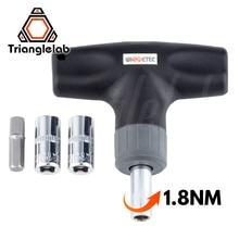 Trianglelab Preset Drehmoment Wrench 1,8 N Sicher und schnelle HEX BUCHSE DREHMOMENTSCHLÜSSEL 7MM 8MM für 3D drucker Düse V6 volcano MK8