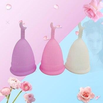 Copa Menstrual reutilizable de silicona de grado médico, producto de higiene femenina,...