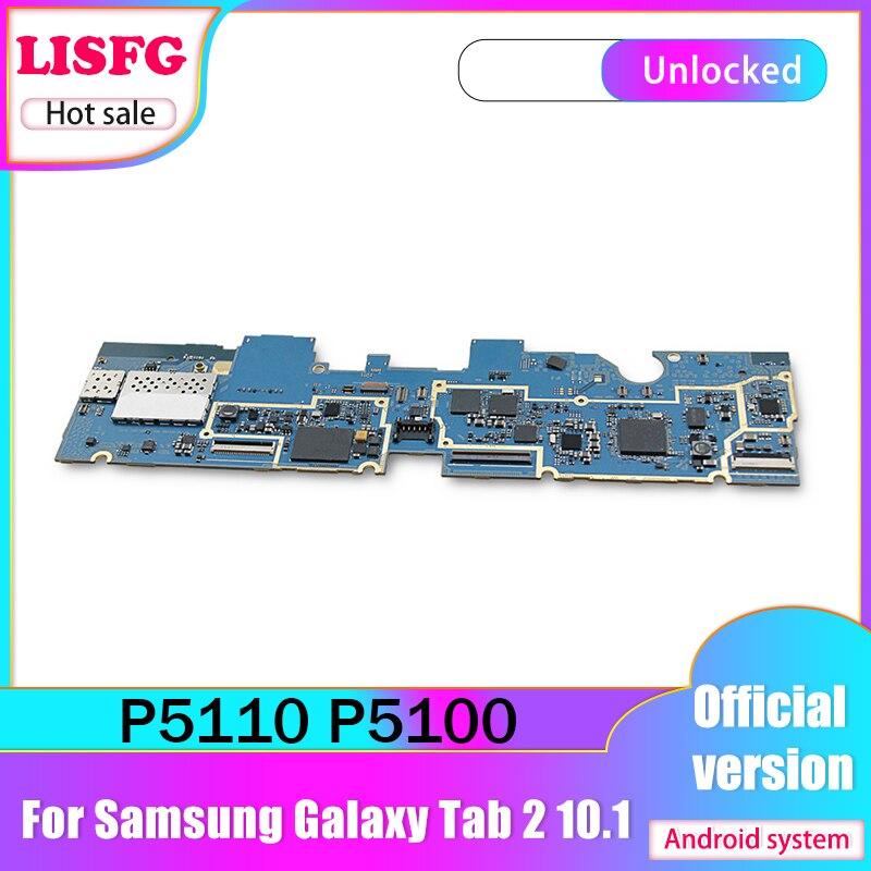 Livraison gratuite, original pour Samsung Galaxy Tab 2 10.1 P5100 3G P5110 WIFI carte mère Android carte mère logique bon testé