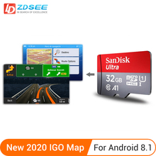 GPS map micro SD cards 32GB for Android 8.1 or higher New latest Map free update for Gps Navigation Europe/Russia/spain etc
