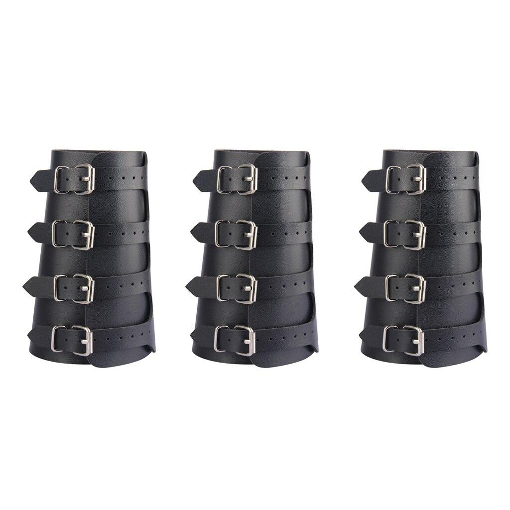 3 Medieval Arm Armor Bracers Strap Cuff Wrap Wristband Buckle Fastening Arm Cuff Wristband Cross String Steampunk Cosplay