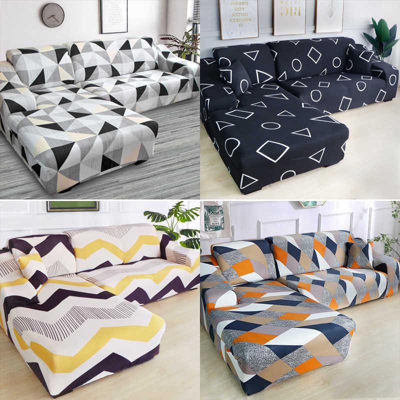 Phenomenal Striped Elastic Corner Sofa Covers Cheap Cotton For Living Inzonedesignstudio Interior Chair Design Inzonedesignstudiocom