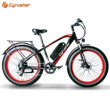 Cyrusher 26 дюймов Электрический велосипед 48v1000w13a толстый