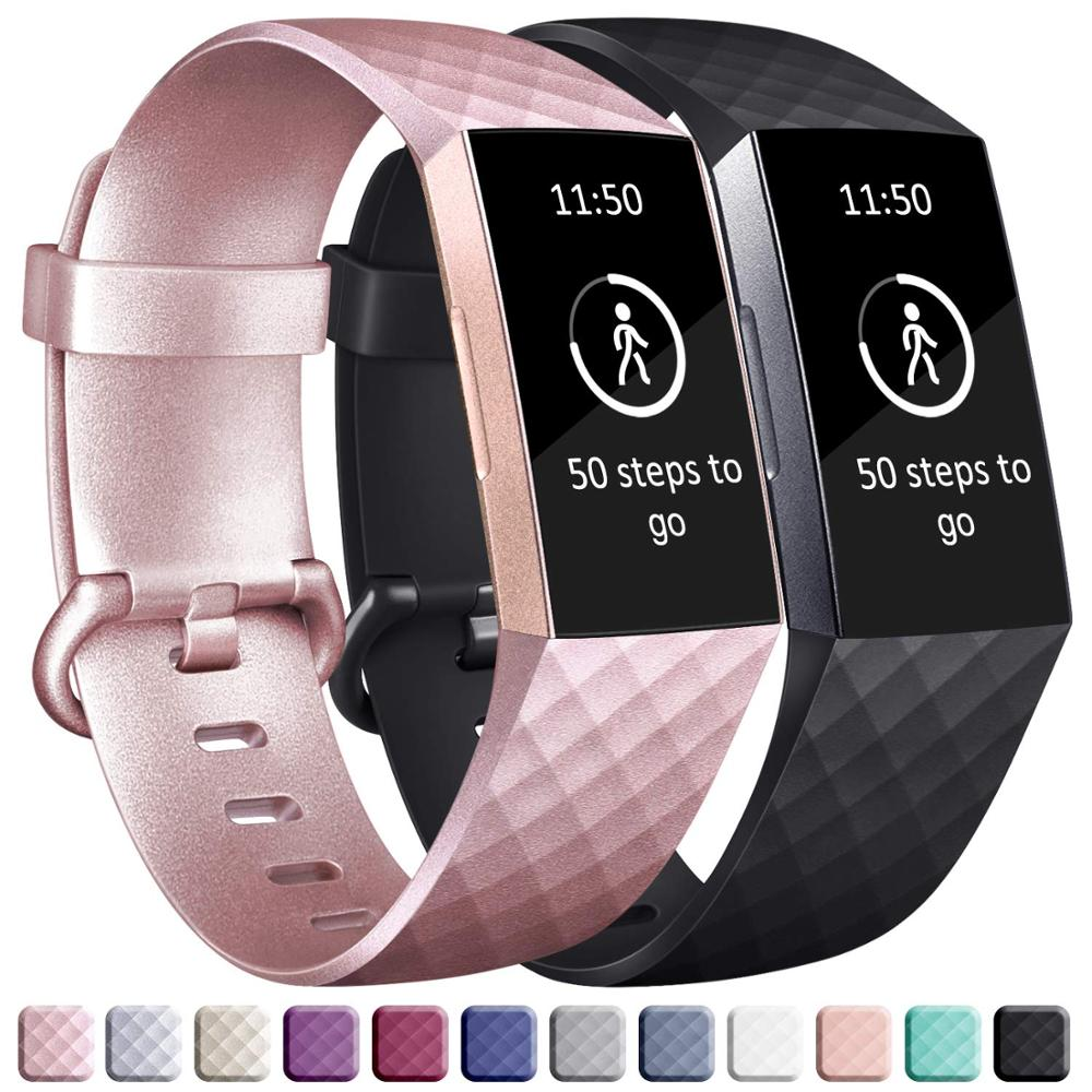 Silicone Strap For Fitbit Charge 4 Band Replacement Watchband Charge4 SmartWatch Sport Soft Bracelet Fitbit Charge 3 SE Band
