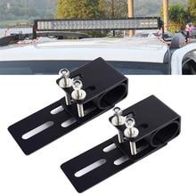 Suporte universal para teto de carro, 1 par de rack de teto para carro suv, suporte de montagem em barra de luz led, suporte para condução, lâmpada de trabalho, suporte de captador automático acessórios
