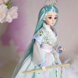 32 см винтажные сказочные куклы для девочек Этническая кукла с подставкой Китайский древний миф серия Qian Nian игрушки подарки на день рождения