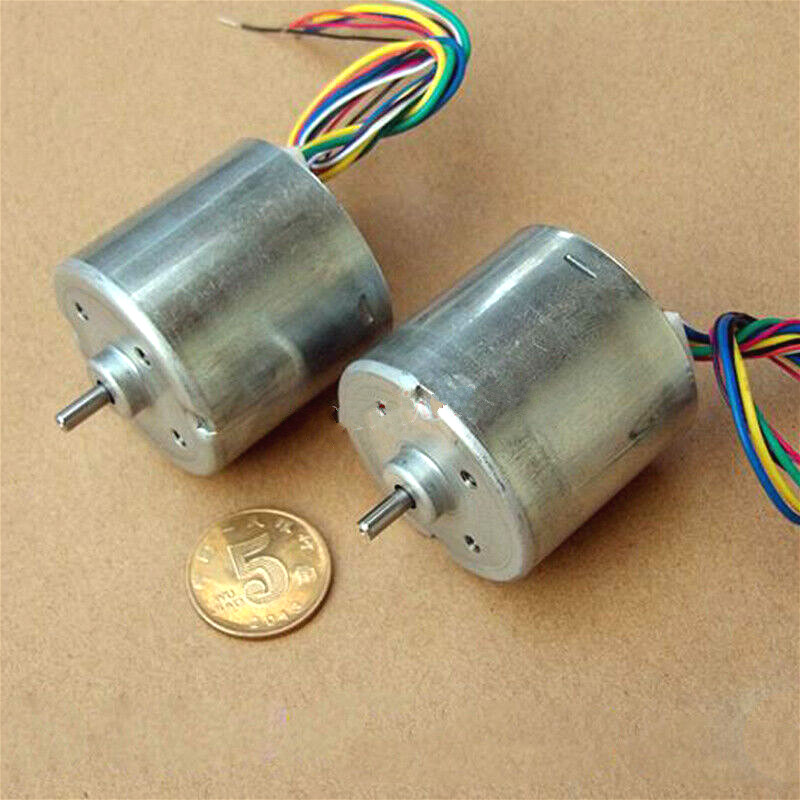 Micro Mini 36mm DC Brushless Motor 3-phase 8-wire Hall Sensor DC 6V-9V 7600RPM