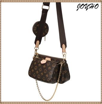 Luxury Leather Women's bag crossbody shoulder bag 3 in 1 Messenger handbag tote bags fashion baguette bag Printed Composite Bag 1