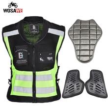 GHOST RACING Motocross Vest 3PCS Protective Gear Motorcycle Jacket Reflective Strip Safety Vest Motorbike Riding Biker Vest