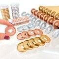 100PCS 28MM Planner Disc Mushroom Hole Binding Ring Buckle Hand Ledger Loose-leaf DIY Accessories 28mm Love Disc