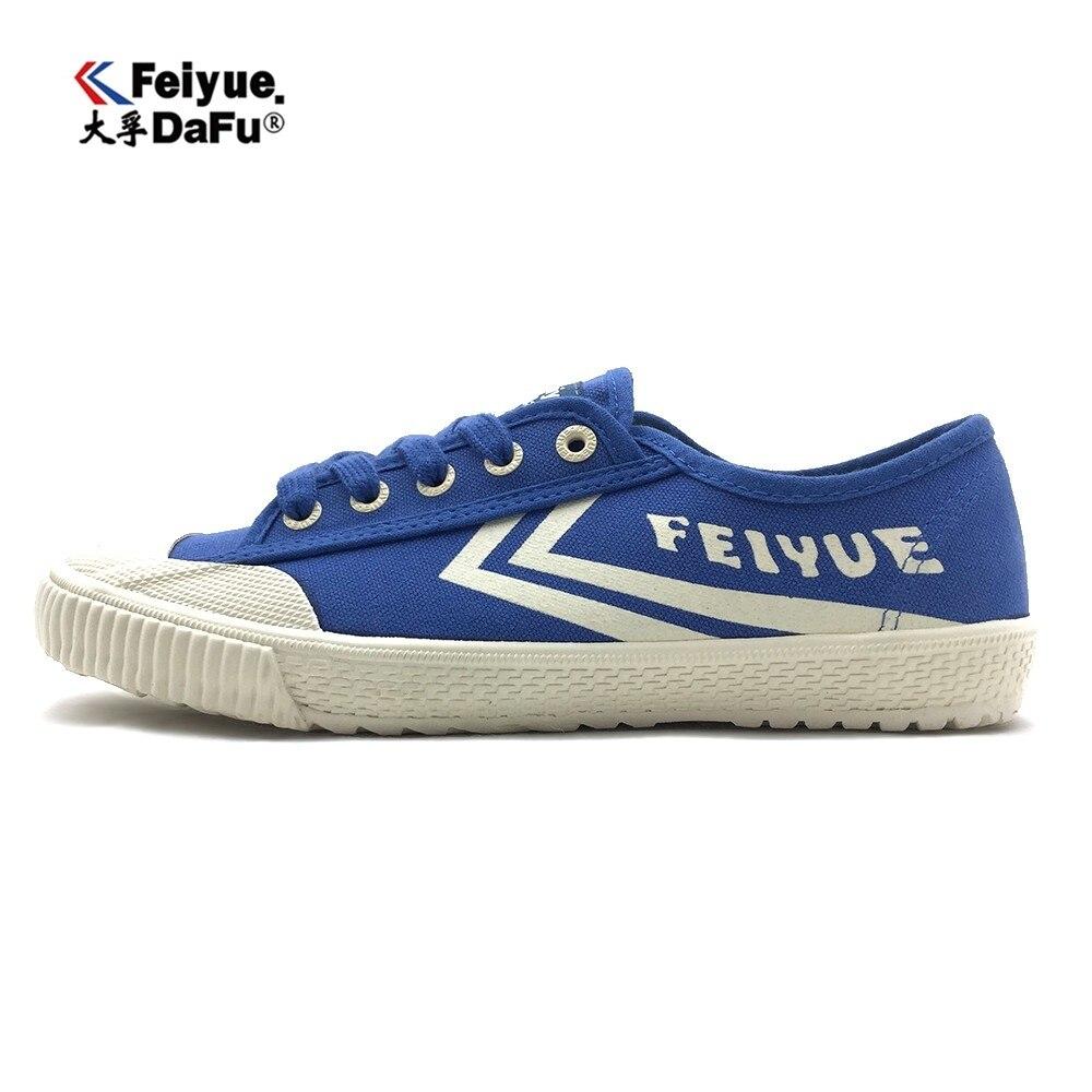 Синие кроссовки FEIYUE Dafu, оригинальные кроссовки для занятий боевыми искусствами Taichi Taekwondo Wushu, классические белые и черные кроссовки KungFu для ...