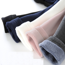 Trousers Velvet Leggings Pants Girls Kids Winter with for Thicken Warm Casual