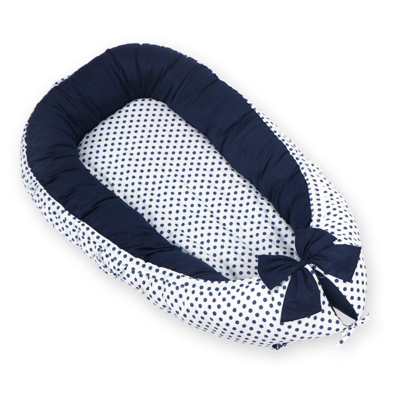 90*50cm Portable Baby Bed Tissu Coton Baby Nest Reducteur De Lit Bebe Crib Baby Bed Cuna De Viaje