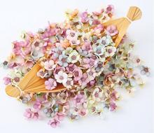 50PCS 2CM Artificial Flowers Daisy Flower For Wedding Party Family Decoration  DIY Garland Headdress