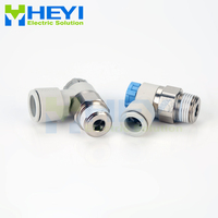 10PCS/bag ASxx11 pneumatic throttle valve L type AS 4 8mm M5 1/4 Air Flow Speed Control Valve Tube Pneumatic Push In Fittings