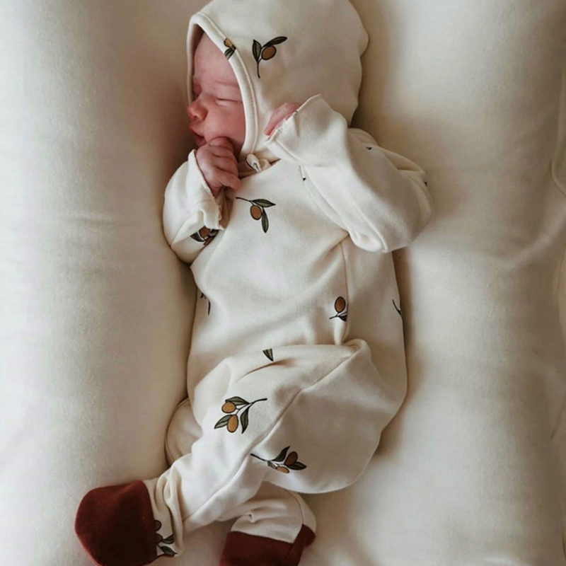 Yg Baby Clothes Newborn Baby Clothes With Hat Printing Baby Jumpsuit Long Sleeve Boys And Girls' Autumn Underpainting Jumpsuit 5