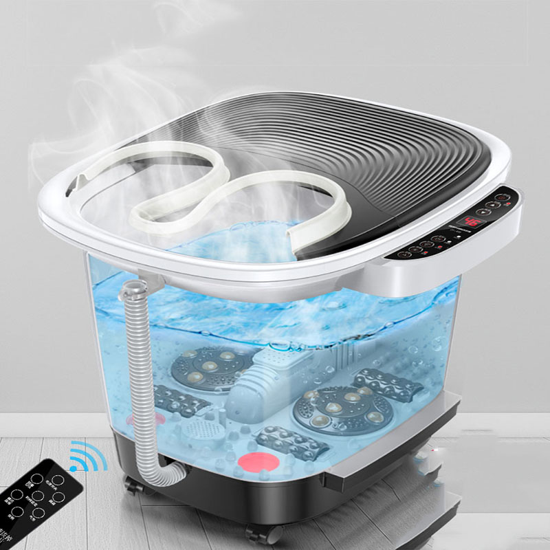 Fumigation Foot Tub Electric Heated Massage Fully Automatic Household Red Pedicure Heightening Plastic Health Care Foot Bath