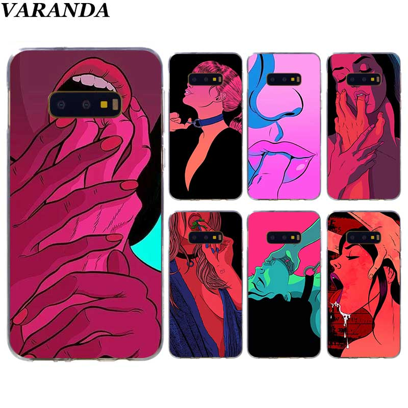 <font><b>Sexy</b></font> Hot Girl Summer Swag art <font><b>Case</b></font> for Samsung Galaxy S10 5G S10e <font><b>S8</b></font> S9 Plus S7 Edge Note 10 8 9 Silicone Cover Phone Coque image