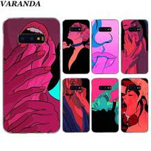 Sexy Hot Meisje Zomer Swag Art Case Voor Samsung Galaxy S10 5G S10e S8 S9 Plus S7 Rand Note 10 8 9 Silicone Cover Telefoon Coque(China)