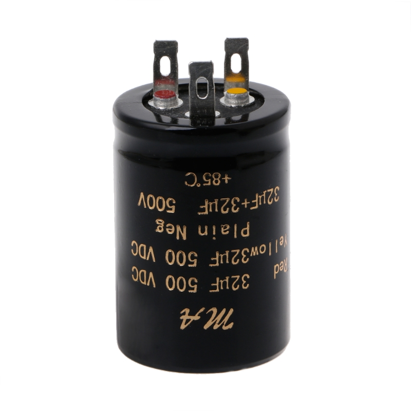 100+100uf,50+50uf,32+32uf,500V Audio Electrolytic Double Amplifier Capacitors