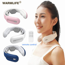 Smart Electric Neck and Shoulder Massager Low Frequency Magnetic Therapy Pulse Pain Relief Tool