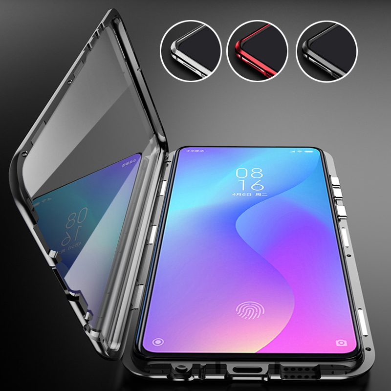 Metal Magnetic Phone Cases On Xiami Xiomi 9 t 9tpro t9 k20 Double Sided Glass Case For xiaomi mi 9t pro 360 Funda Cases Fundas|Fitted Cases| |  - title=