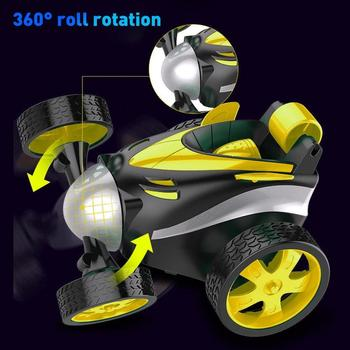 Wireless Remote Control 360 Degree Rotation Stunt Racing Toy Car Kids Gifts image