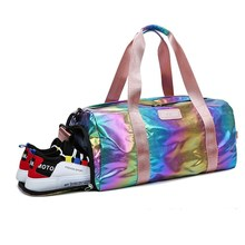 BELLELIFE Colorful Oxford Travel Bags for WOMEN Large Capacity MEN Sports Luggage Duffle Bags Weekend Overnight Fitness Gym Bag