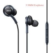 Original para samsung 3.5mm fones de ouvido ig955 in-ear com fio com microfone controle de volume fone de ouvido para akg galaxy s8 s7 s6 plusc7 c9 pro