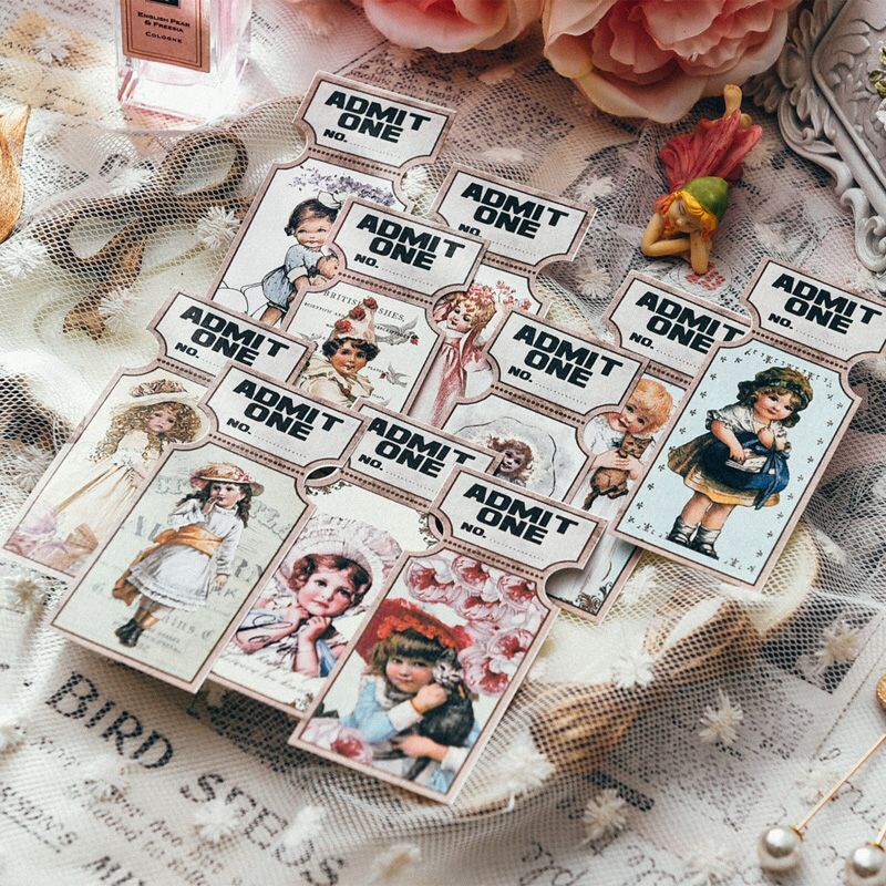 KSCRAFT Cute Girl Film Strip And Tickets Paper Die Cuts For Scrapbooking Happy Planner/Cardmaking/Journaling Project