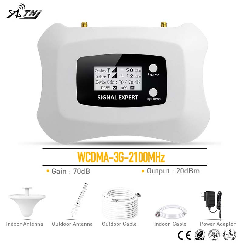 Hot 3G Cellular Amplifier WCDMA 2100MHz 3G Mobile Signal Booster 3G Repeater kit for MTS Beeline Vodafone EU Assia Africa RU