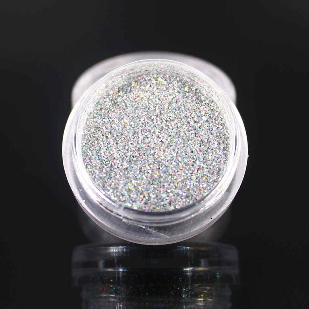 1 Pcs Taoxin Zwart AB Boor Nail Spiegel Glitter Poeder Metallic Kleur Nail Art Gel Polijsten Chrome Vlokken Decoraties Manicure