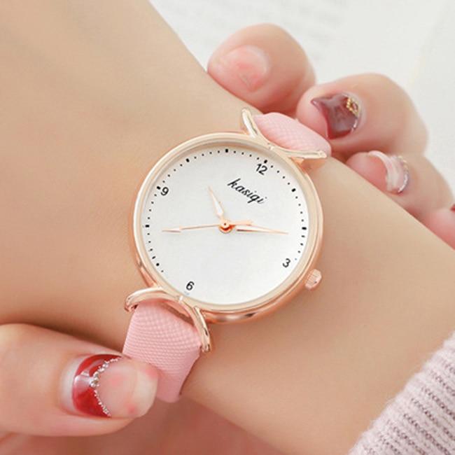 Tephea Women Watch Fashion Quartz Lady Leather Watchband Casual Waterproof Wristwatch Gift For Girl 2019 Simple New Black Xfcs