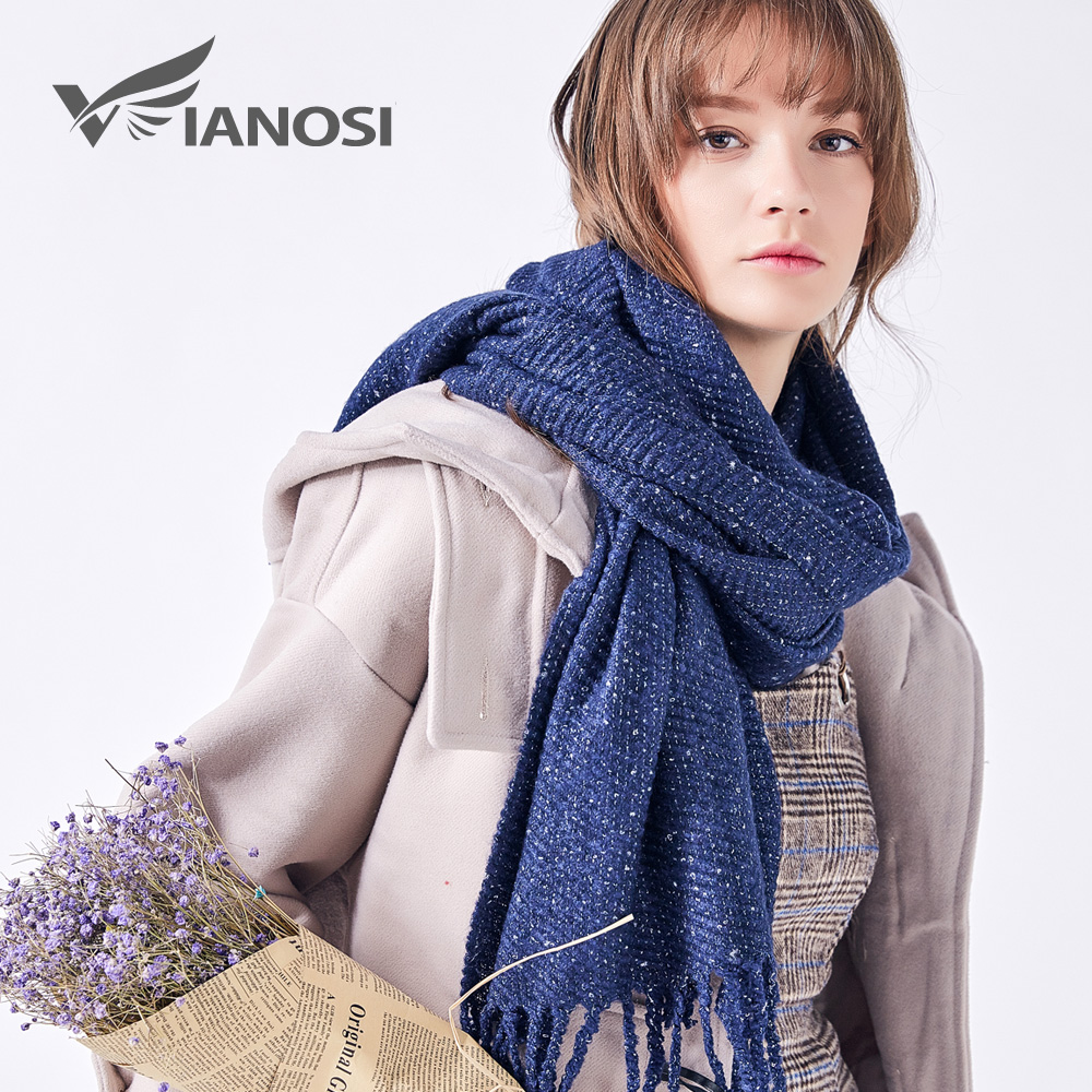 VIANOSI Solid Winter Scarf Women Tassel Warm Long Shawl Fashion Scarves Bufandas Mujer Foulard Femme Hijab