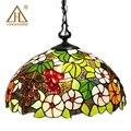 Тиффани лампа-Стрекоза со стеклянным колпаком подвесной светильник в богемном стиле один подвесной светильник пены упаковка для коридор к...