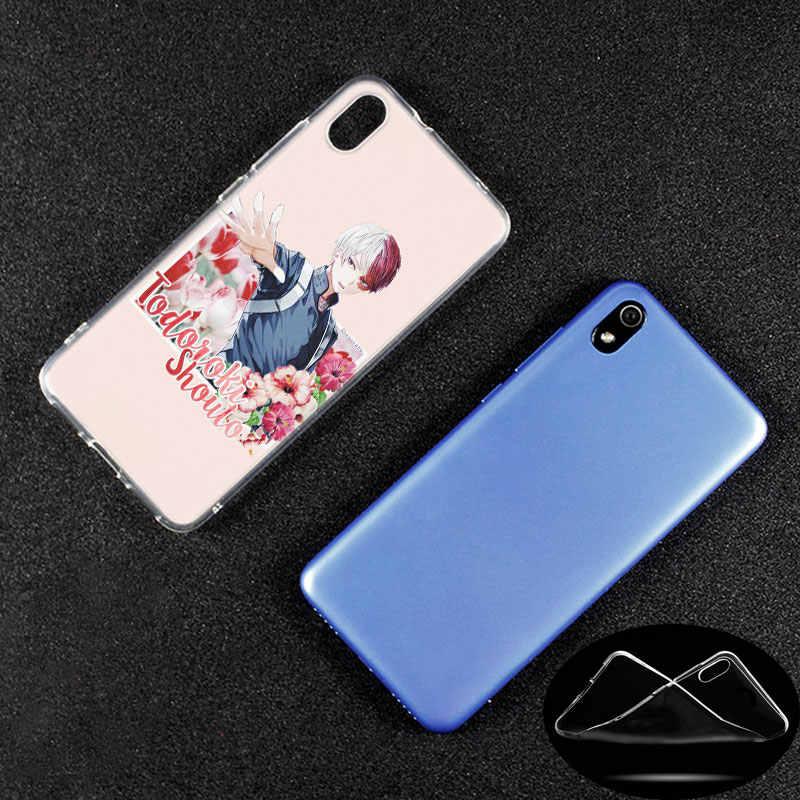 De Lujo funda de silicona Anime mi héroe Academia para Xiaomi Redmi K20 Pro 7 7A 6 6A 4X4 5X5 Plus s2 ir Nota 8 7 6 5 4 Pro de moda