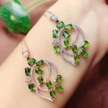 Естественный диопсид S925 ожерелье бутик ювелирные изделия подходит для женщин