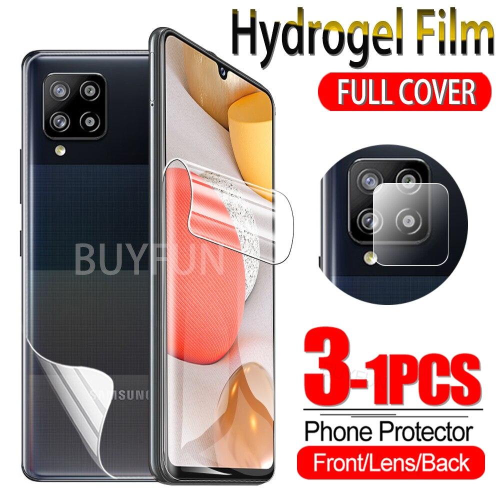 Гидрогелевая пленка 1-3 шт. для Samsung Galaxy A42 5G, защита экрана, водостойкая гелевая защитная пленка, стекло для камеры Sumsung Glaxy A12 A 42 12
