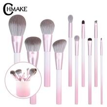 CHMAKE 10pcs Makeup Brushes Set Face Basic Brush Blending Eyeshadow Lip Make Up Kit Soft Synthetic Hair Cosmetics Tool