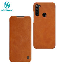 Caes for Xiaomi Redmi Note 8T Note8T Nillkin Qin Series PU Leather Flip Cover For Xiaomi Redmi Note 8T Case