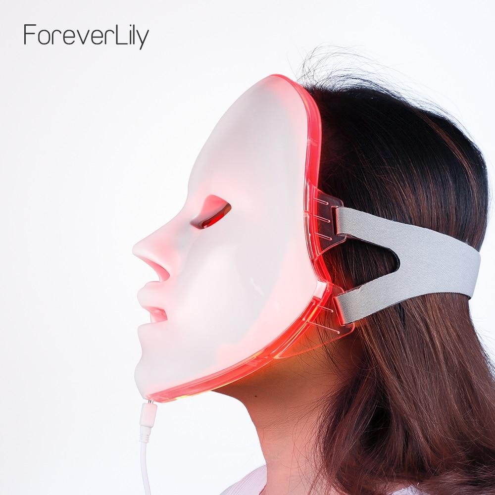 7 Colors Light LED Facial Mask Skin Rejuvenation Face Care Treatment Beauty Anti Acne Therapy Whitening LED Photon Face Mask