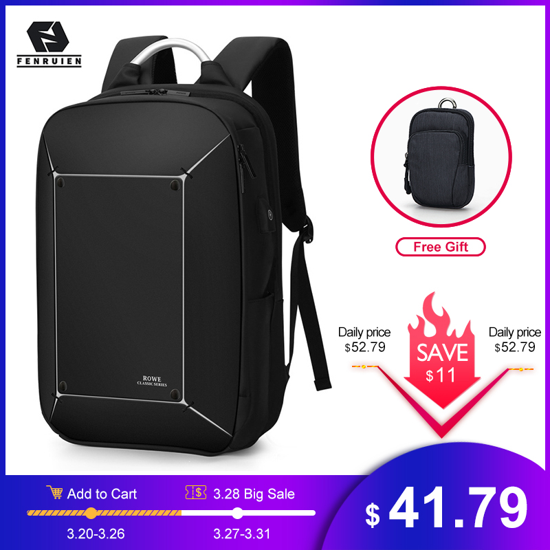 FRN Brand Men Laptop Backpack Anti-theft Fit 17 Inch Computer Backpacks USB Charging Waterproof Backpack Travel Backpacking