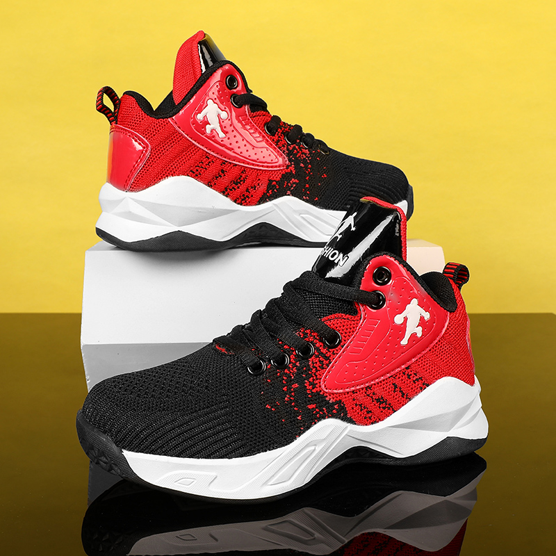 High-top Breathable Kids Basketball Shoes Cushioning Sports Shoes Kids Boys Sneakers Jordan Shoes Teenager Training Boots Basket