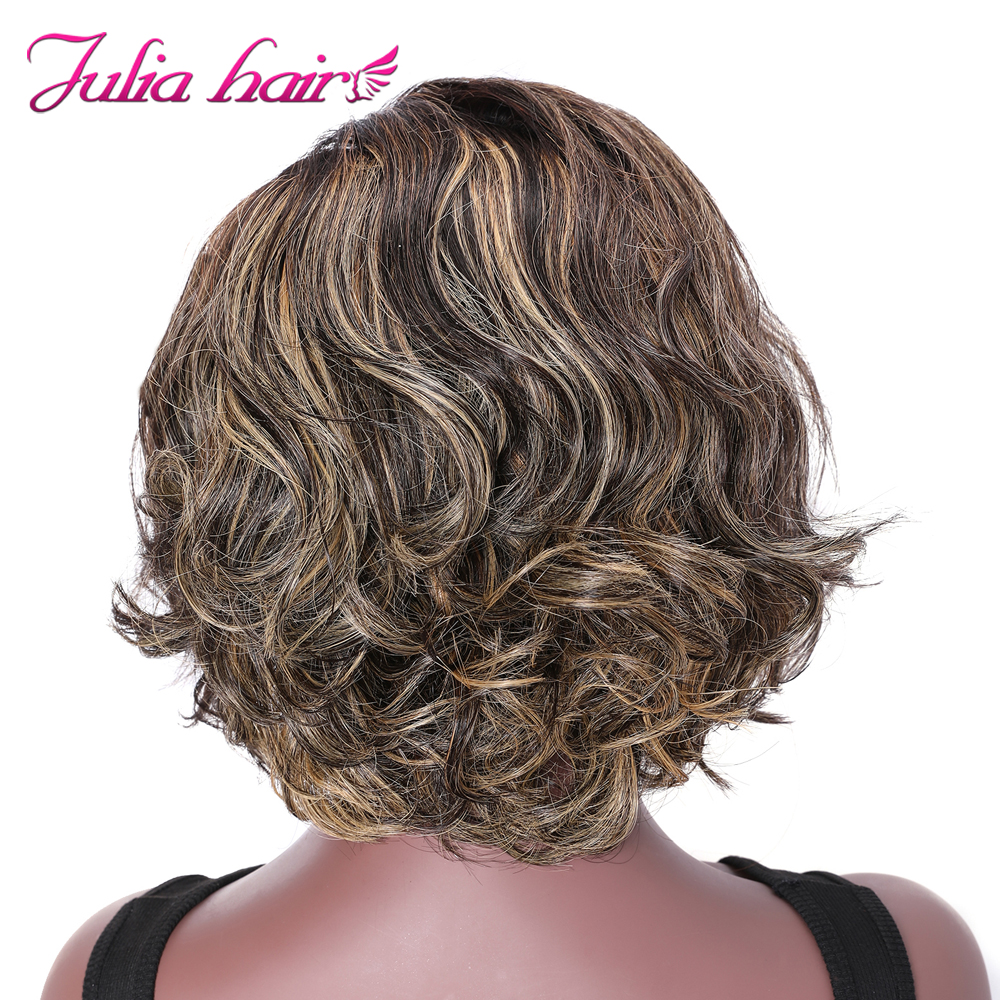 Peruvian Highlight Wavy Bob Lace Front Wig Pre Plucked 8 Short Bob Ombre Lace Wig Ali Julia Wavy Human Hair Wig with Baby Hair (4)