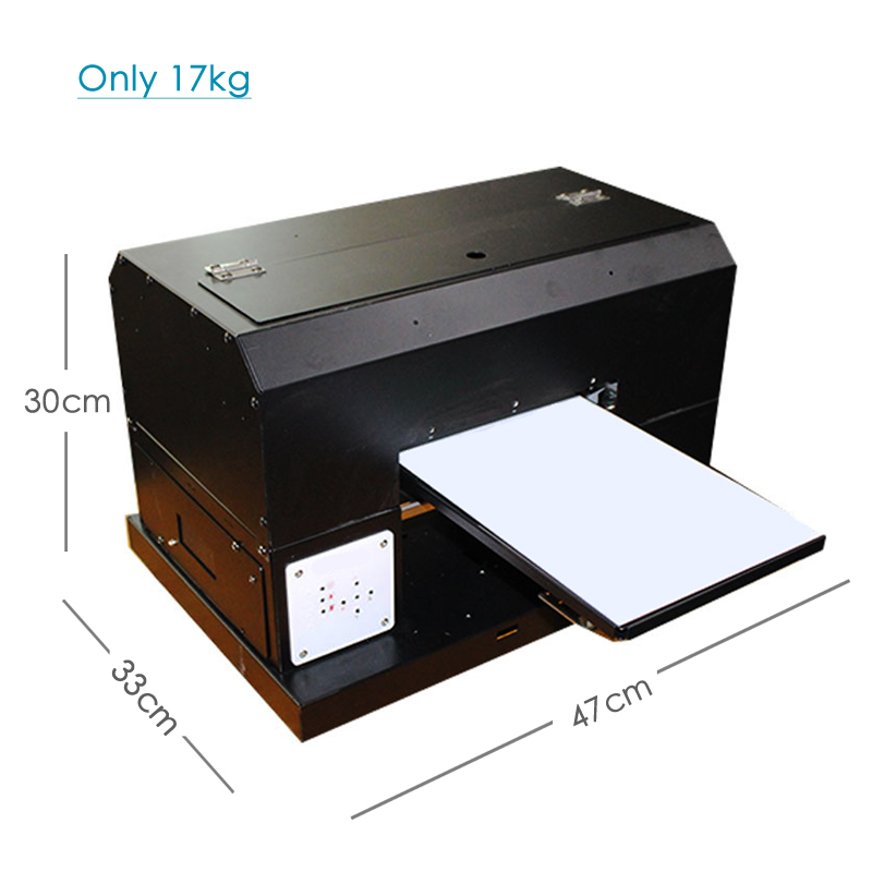Huiti,A4 UV Printer LED With Emboss Effect Golf UV Flatbed Printer For Phone Case, T-shirt, Leather,TPU With UV Ink